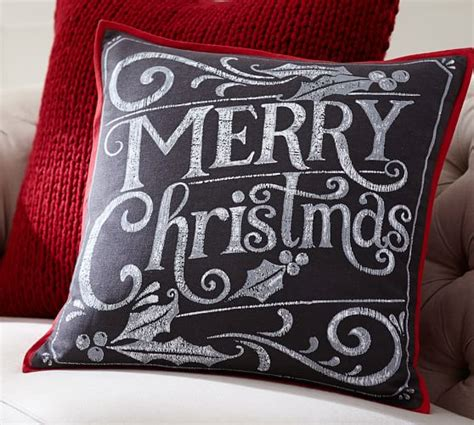 merry christmas chaulk board pottery barn merry pillow cover pottery barn