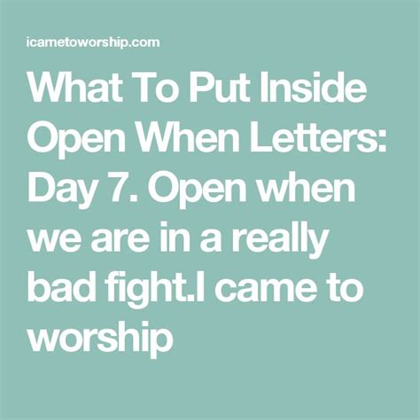 what to write in open when letters what to put inside open when letters day 7 open when we 1714