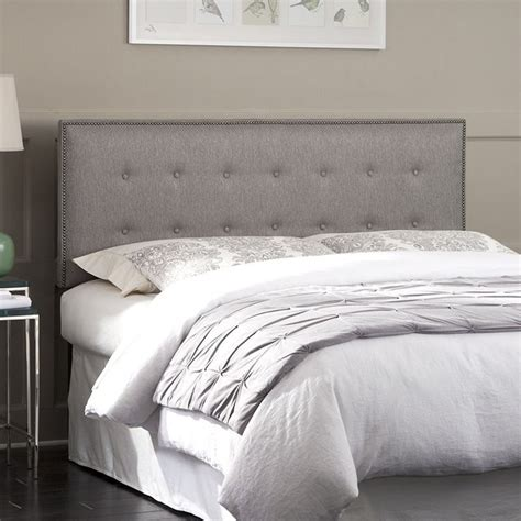gray upholstered headboard king fashion bed easley king california king upholstered headboard in gray b72900