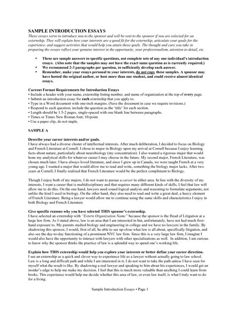 resume introduction exles introduction about myself essay exle reference for