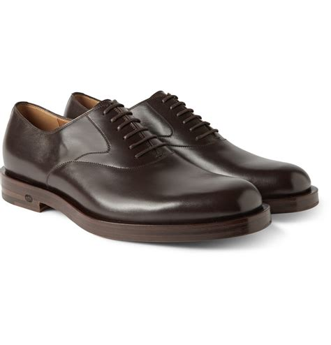 leather oxford shoes gucci brown leather oxford shoes in brown for lyst