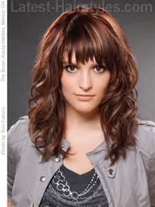 wave hair with bangs curly hairstyles with fringe