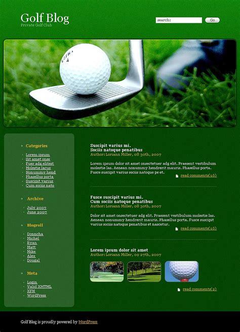 bootstrap themes free golf golf wordpress theme 19478