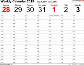 Weekly Calendar Excel   weekly calendar template