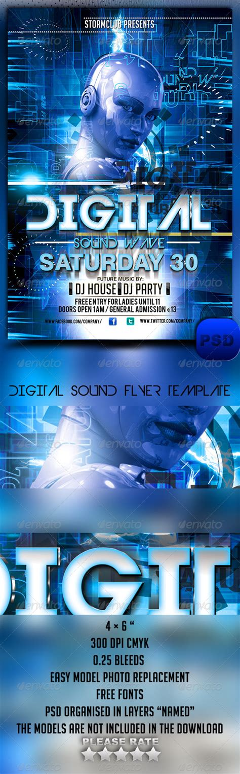 digital sound flyer template graphicriver