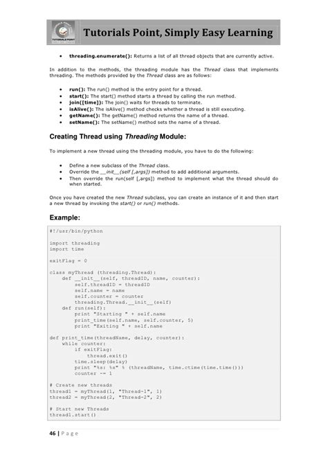 tutorial python threading python tutorial