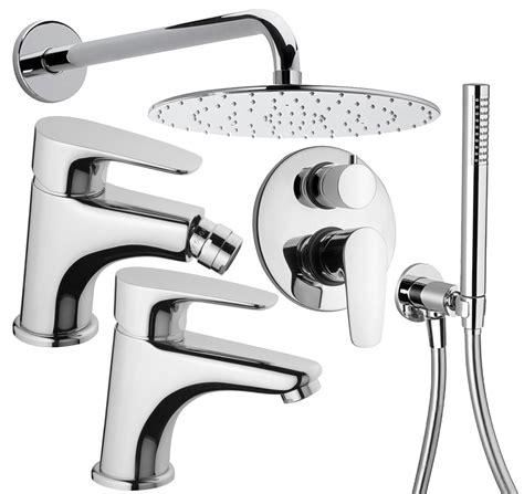 rubinetti acqua paini smart kit di 3 rubinetti soffione doccia e presa