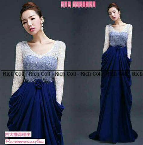 Sale Baju Dress Gaun Pesta Korea Hitam Elegan Lengan Panjang Import baju gaun dress quot maureen quot cantik murah