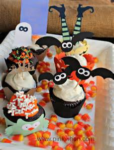 Cupcake Decorating Ideas For Halloween Halloween Cupcake Ideas Pinkwhen