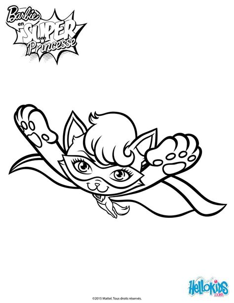 super barbie coloring pages super cat in flight coloring pages hellokids com