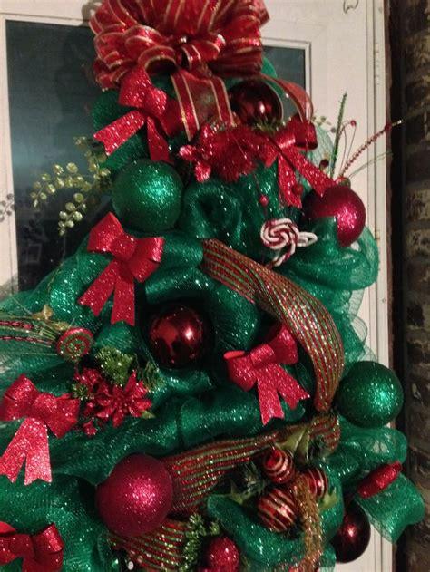 deco mesh christmas tree wreath