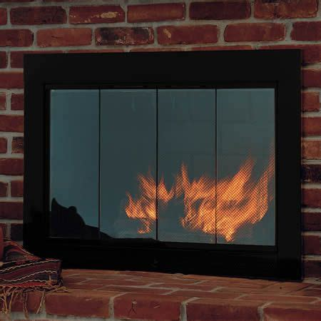 glass doors for wood burning fireplace slimline fireplace glass door woodlanddirect