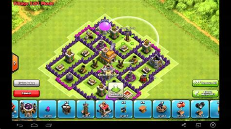 coc th7 base in hd image clash of clans best th7 trophy base gold crystal league