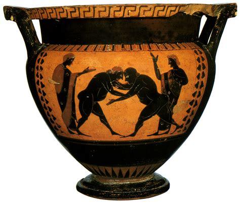Black Figure Vase Painting by A Black Figure