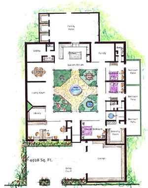 house plans with atrium garden homes with atriums floor