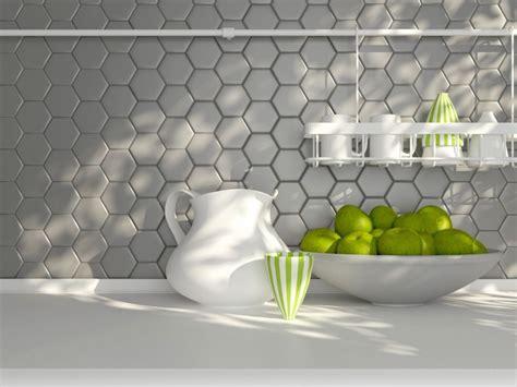 How To Do A Kitchen Backsplash p ytki heksagonalne w kuchni ciany i pod ogi kuchenny