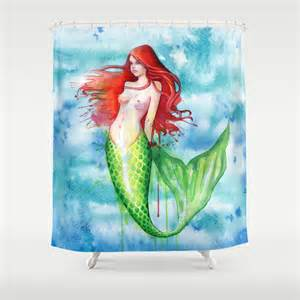 Little mermaid shower curtain by sam nagel society6