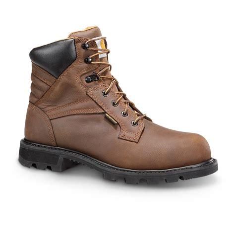 steel toe waterproof work boots carhartt s steel toe work boots waterproof 6 quot brown
