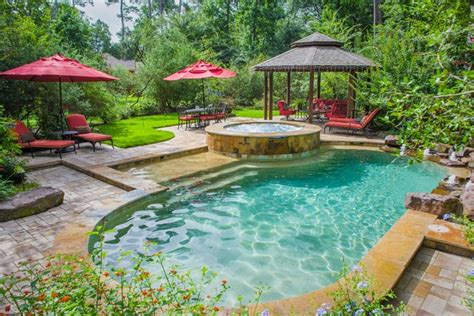 backyard oasis ideas wooded backyard oasis traditional pool houston by