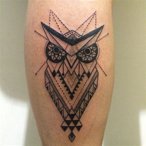 geometric key tattoo geometric owl tattoo designs creativefan