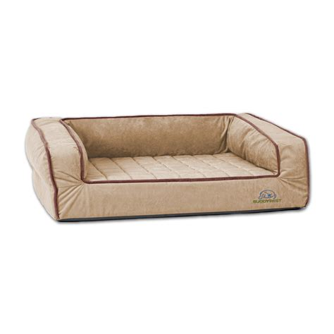extra large orthopedic dog bed buddyrest extra large crown supreme bolster orthopedic dog bed in dog beds and costumes