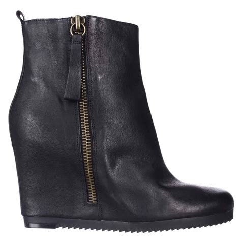 nine west taboulie wedge ankle boots in black lyst