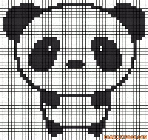 cute panda perler bead pattern work pinterest