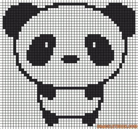 panda pixel template panda perler bead pattern work