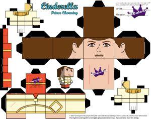 Origami Prince Charming - disney s cinderella prince charming cubeecraft papercraft