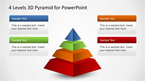 3d pyramid template 4 levels 3d pyramid template for powerpoint slidemodel