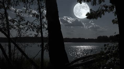 Lunar Landscape Definition High Definition Of The Moon Reflecting Onto The Lake With