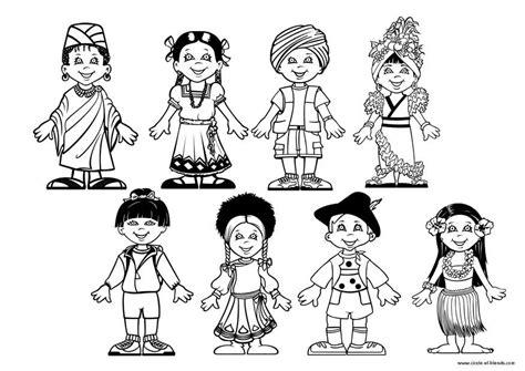 coloring pages holidays around the world kleurplaat kinderen van de wereld afb 9281