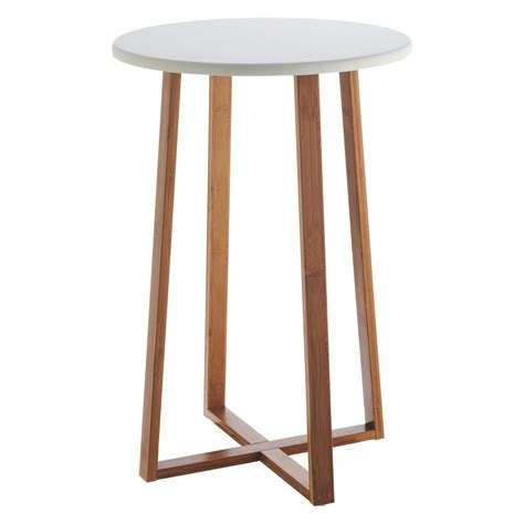 how tall should a side table be drew bamboo and white lacquer tall side table buy now at