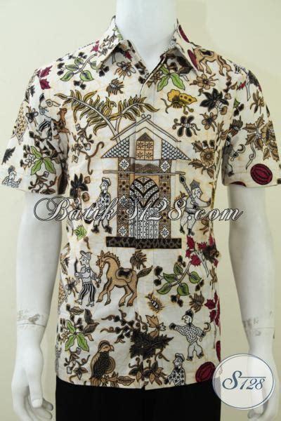 Baju Batik Terbaru Lengan Pendek Ukuran M Motif Bunga batik kumpeni kompeni kemeja jadi lengan pendek ukuran m