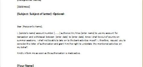 Bank Permission Letter Parental Letter Of Authorization For Travel Writeletter2