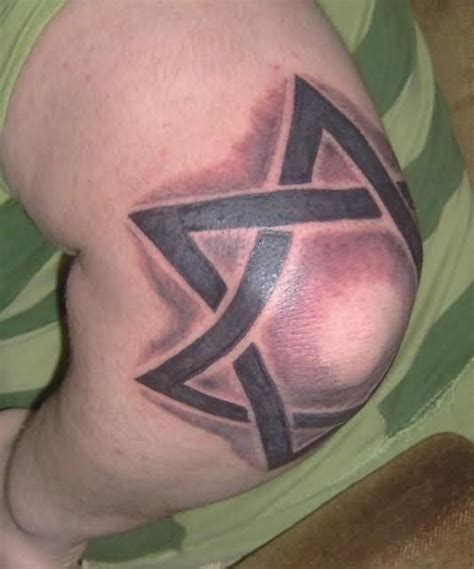 elbow star tattoo david on