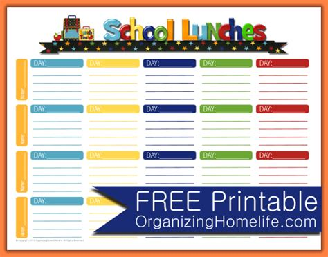 4 School Menu Template Procedure Template Sle Free School Menu Templates