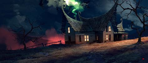 fantasy houses house of ghosts picture 2d fantasy house matte
