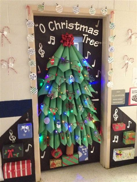 christmas door decoration kinder christmas pinterest