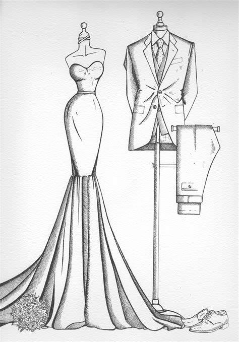 Sketches N Designs by Sketch Of Wedding Dress Wedding Dress Decore Ideas