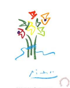 pablo picasso evening flowers painting evening flowers print for sale