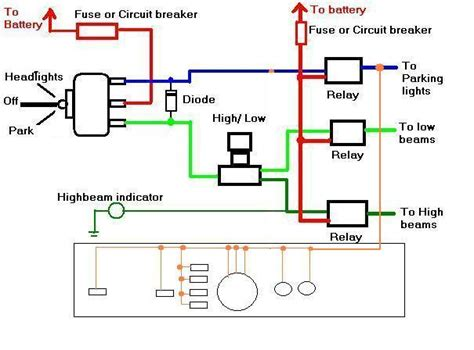 wiring diagram for headlight switch diagram free