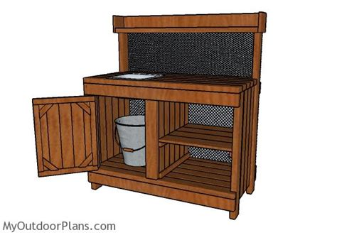 build potting bench potting bench with sink plans myoutdoorplans free