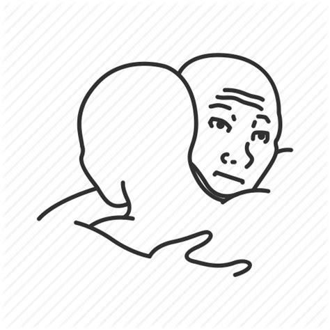 Meme Icon - emotion friends funny hug i feel you bro meme sad