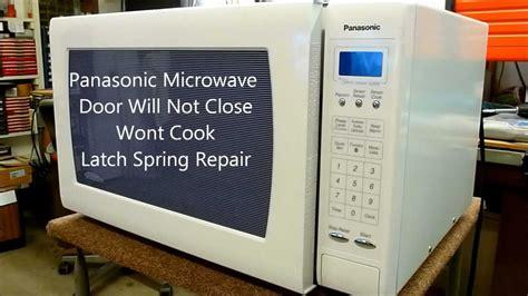 Microwave Door Won T Open panasonic microwave oven door wont won t latch shut
