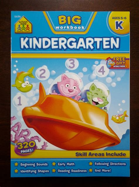 School Zone Kindergarten Stickers And More Workbook school zone kindergarten review giveaway emily reviews