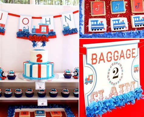 karas party ideas thomas train boy cake  birthday party planning decorations ideas