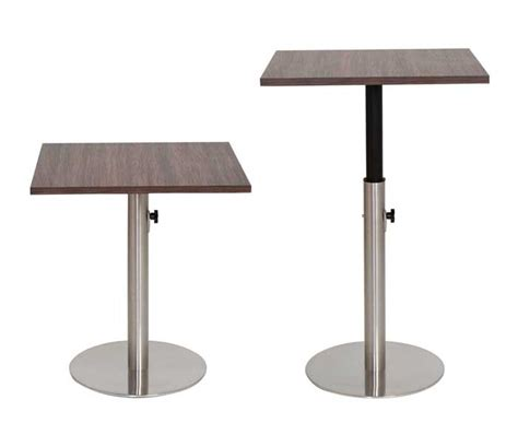 adjustable height dining table base height adjustable tables dining and bar height pub and