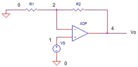 pspice resistor polarity op non inverting lifier