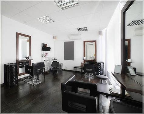 Kursi Dan Kaca Salon Desain Interior Salon Minimalis Modern Sederhana